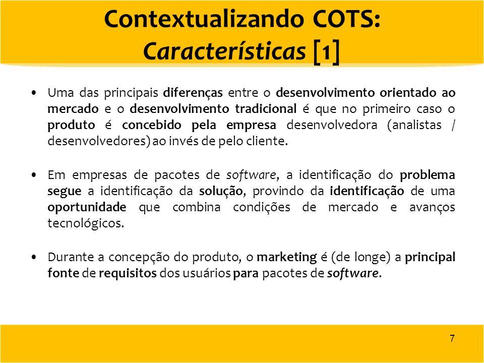 Contextualizando COTS: Características [1]